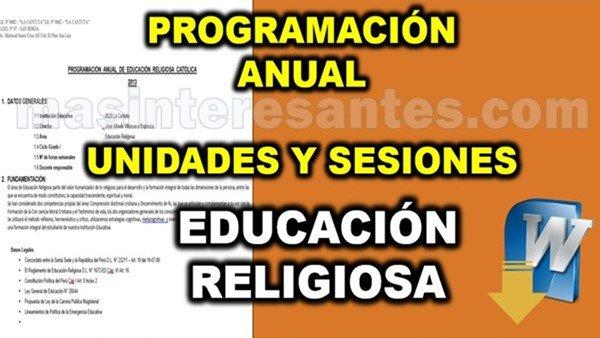 Programacion unidades y sesiones de Educación Religiosa