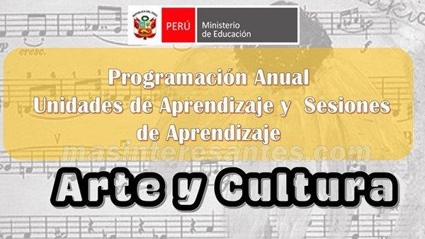 Programación Unidades y Sesiones de Arte y Cultura