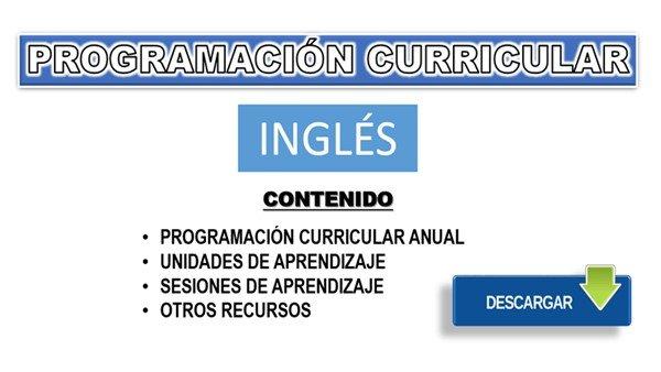 Programación, Unidades y Sesiones de Inglés