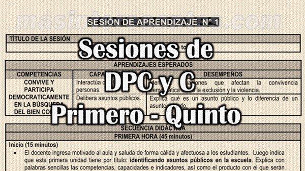 Programaciones, Unidades y Sesiones de DPCC